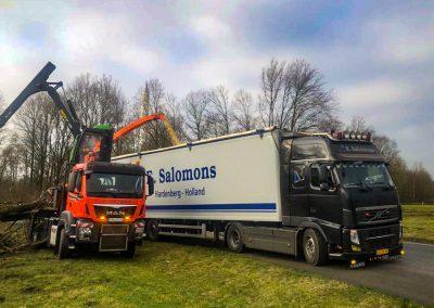 Salomons Transport transport vaste stoffen, houtsnippers